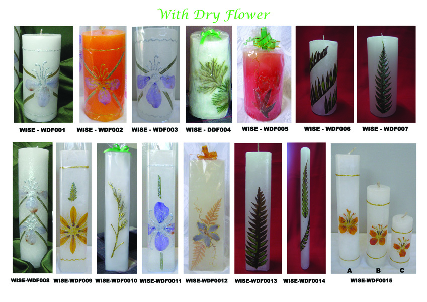 Candle With Dry Flower